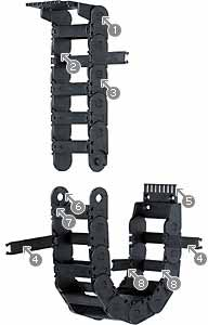 Plastic Igus 2500-03-100-0 2500 Series E-Chain