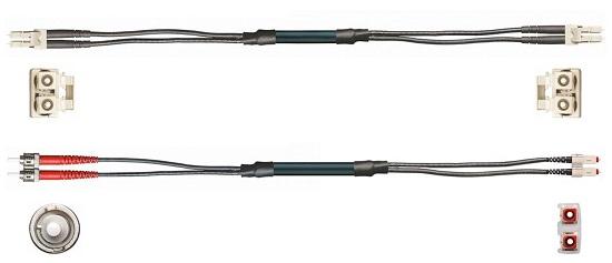 cable de fibra óptica con conectores