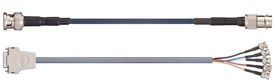 cable coaxial confeccionado con conectores
