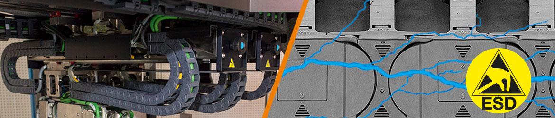 Anschlusselemente 30mm für Energiekette,Mit Deckel Kabelführung Schleppkette