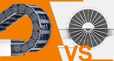 Energy chain systems instead of motor cable drums